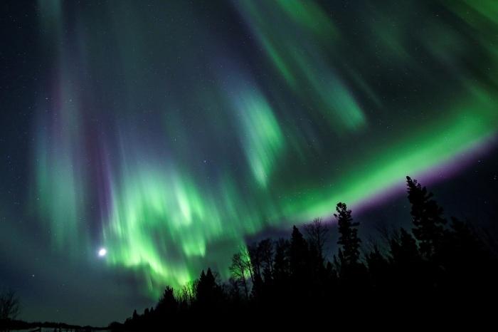 Aurora Borealis in Saskatchewan, Canada