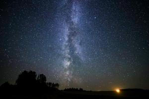 Milky Way over Horizon