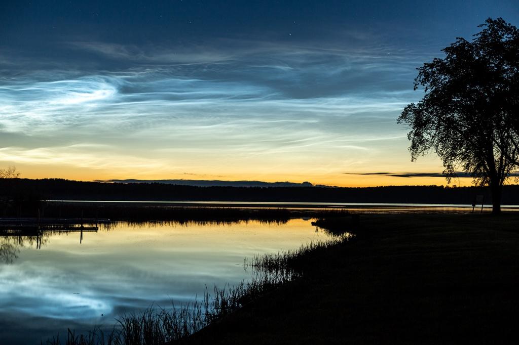 Glowing Clouds reflecting on lake