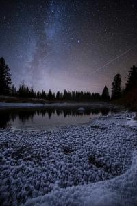 Meteor Shower Nights Photography saskatchewan