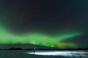 Aurora borealis,  Saskatchewan, Canada