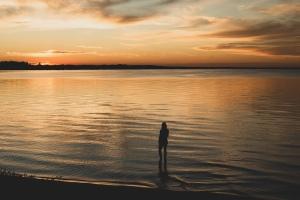 Sunset photography at good spirit lake