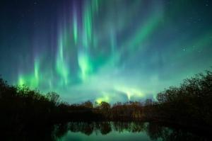 Aurora spikes in Saskatchewan Canada