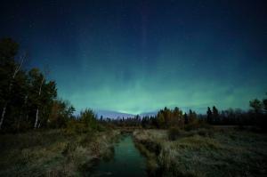 Fall aurora in Saskatchewan