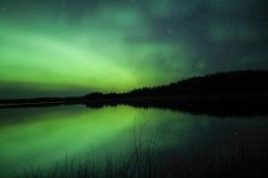 Porcupine hills Saskatchewan Aurora Borealis