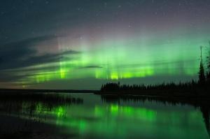 Aurora Borealis Meadow Lake Provincial park Saskatchewan